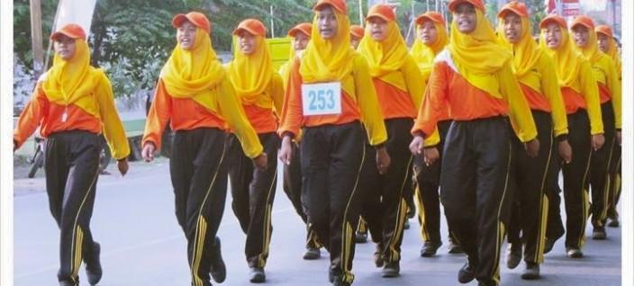 Tim Gerak Jalan Putri SMANEMA 2015